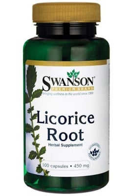 Swanson licorice root 450 mg 100 capsules / Суонсън корен от Женско биле 450 мг. 100 капсули