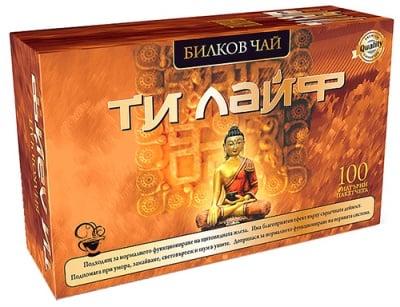 Tea Ti Life 100 pcs. filter bags / Чай Ти Лайф за щитовидна жлеза 100 бр. филтърни пакетчета