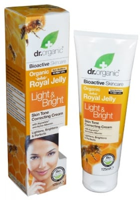 Dr. Organic Royal Jelly Skin whitening cream 125 ml. / Др. Органик Пчелно Млечице Избелващ крем за ръце и лице 125 мл.
