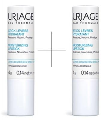 Uriage Moisturizing lipstick 2 pcs. / Уриаж Стик за устни за възстановяване 2 броя