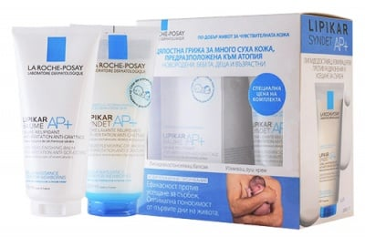 La Roche Lipikar AP+ set baume lipid replenishing balm 200 ml + sydnet lipid replenishing cream wash for dry skin 200 ml / Ла Рош Lipikar комплект балсам 200 мл. + измиващ душ крем 200 мл.