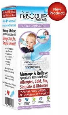 Nasopure set nasal wash for children 118 ml. + 4 sachets / Назопюр комплект за промивки на нос за деца 118 мл. + 4 сашета