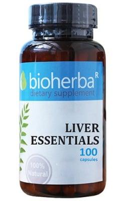 Bioherba liver essentials 100 capsules / Биохерба формула за Черен дроб 100 капсули