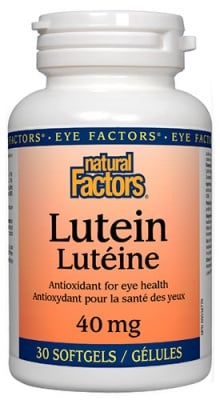 Lutein 40 mg 30 capsules Natural Factors / Лутеин 40 мг. 30 капсули Натурал Факторс