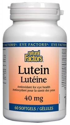 Lutein 40 mg 60 capsules Natural Factors / Лутеин 40 мг. 60 капсули Натурал Факторс