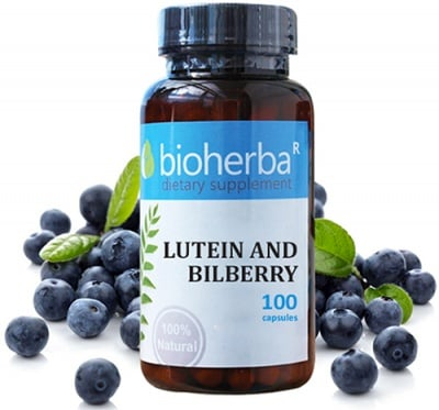 Bioherba lutein and bilberry 100 capsules / Биохерба Лутеин и Боровинка 100 капсули