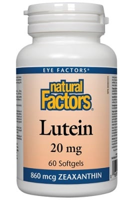 Lutein 20 mg 60 capsules Natural Factors / Лутеин 20 мг. 60 капсули Натурал Факторс