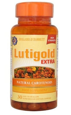 Lutigold extra 20 mg 30 capsules Holland & Barrett / Лутеин Голд Екстра 20 мг. 30 капсули Holland & Barrett
