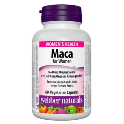 Maca for Women 60 capsules Webber Naturals / Мака за жени 60 капсули Уебър Натуралс