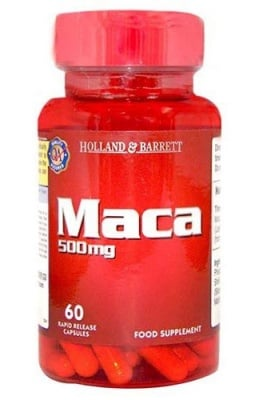Maca 500 mg 60 capsules Holland & Barrett / Мака 500 мг. 60 капсули Holland & Barrett