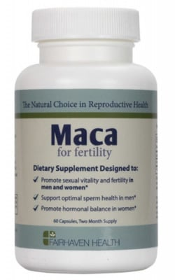 Maca for fertility 500 mg 60 capsules Fairhaven Health / Мака 500 мг. 60 капсули Fairhaven Health