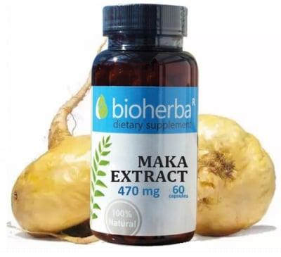 Bioherba Maca extract 470 mg 60 capsules / Биохерба Мака екстракт 470 мг. 60 капсули