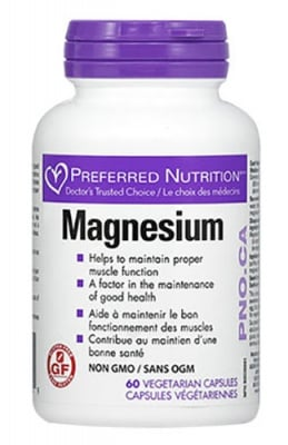 Magnesium 67 mg 60 capsules Natural Factors / Магнезий 67 мг. 60 капсули Натурал Факторс