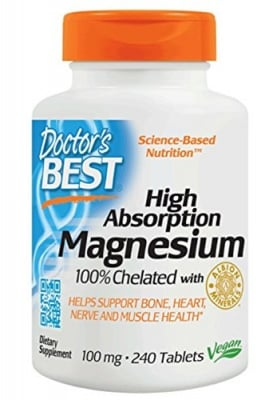 Doctor's Best Magnesium 100 mg 240 tablets / Доктор'с Бест Магнезий 100 мг. 240 таблетки