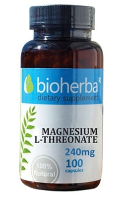 Bioherba Magnesium L-threonate 240 mg 100 capsules / Биохерба Магнезий L-Треонат 240 мг. 100 капсули