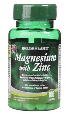 Magnesium with zinc 100 tablets Holland & Barrett / Магнезий + Цинк 100 таблетки Holland & Barrett