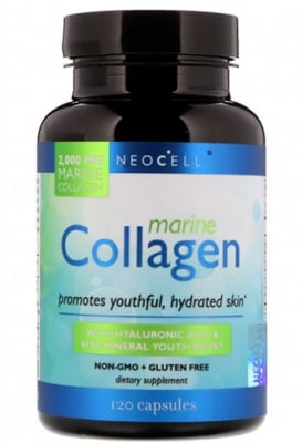 Fish collagen + hyaluronicacid 120 capsules Neocell USA / Рибен колаген + хиалуронова киселина 120 капсули Neocell USA
