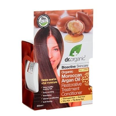 Dr. Organic Moroccan Argan Oil Restorative treatment conditioner 200 ml. / Др. Ограник Арган Балсам Терапия за увредена коса 200 мл.