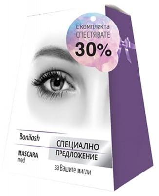 Bonilash serum for eyelash growth 3 ml. + Mascara Med XL Volume 6 ml / Бонилаш серум за растеж на мигли 3 мл + маскара мед XL Volume спирала за обем и растеж 6 мл