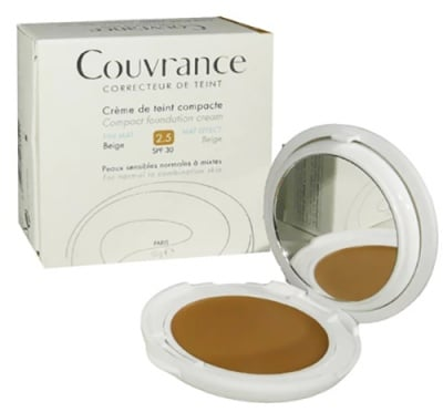 Avene Couvrance Compact foundation cream МАТ SPF 30 2.5 beige / Авен Кувранс Компактна Крем-пудра Матираща SPF 30 2.5 бежов