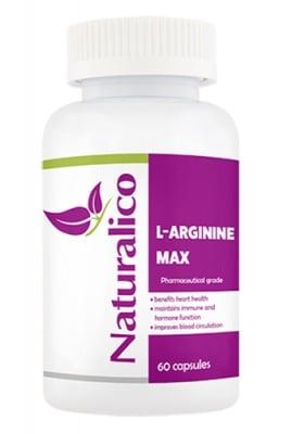 Naturalico L-arginine 60 capsules / Натуралико L-аргинин макс 60 капсули