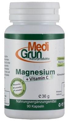 Medi Grun Magnesium + Vitamin C 90 capsules / Меди Грюн Магнезий + Витамин Ц 90 капсули