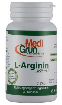 Medi Grun L-Arginin 1000 mg 30 capsules / Меди Грюн L-аргинин 1000 мг 30 капсули