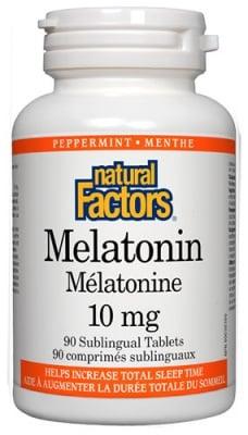 Melatonin 10 mg 90 tablets Natural Factors / Мелатонин 10 мг. 90 таблетки Натурал Факторс