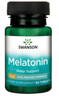 Swanson Melatonin dual release 3 mg 60 tablets / Суонсън Мелатонин с двойно освобождаване 3 мг. 60 таблетки