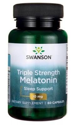 Swanson Melatonin triple strength 10 mg 60 capsules / Суонсън Мелатонин с тройно действие 10 мг. 60 капсули