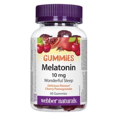 Melatonin 10 mg 60 gummies Webber Naturals / Мелатонин Гъмис 10 мг. 60 желирани таблетки Уебър Натуралс