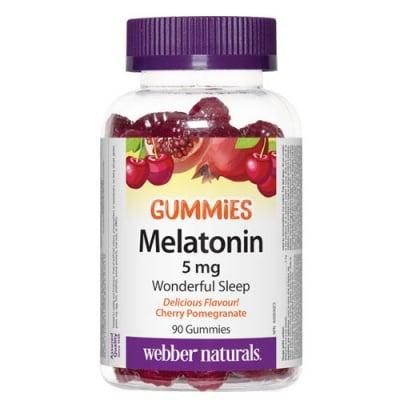 Melatonin 5 mg 90 gummies Webber Naturals / Мелатонин Гъмис 5 мг. 90 желирани таблетки Уебър Натуралс