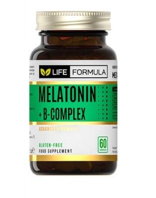 Life formula melatonin + B complex 60 capsules / Лайф формула мелатонин + Б комплекс 60 капсули