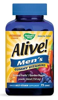 Alive Men's 50+ vitamins 75 gummies Nature's Way / Алайв Витамини за мъже 50+ Nature's Way 75 желирани таблетки