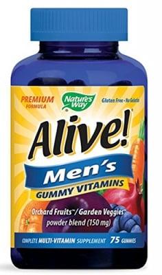 Alive Men's vitamins 75 gummies Nature's Way / Алайв Витамини за мъже 75 желирани таблетки Nature's Way