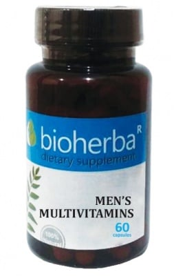 Bioherba men's multivitamins 60 capsules / Биохерба Мултивитамини за мъже 60 капсули