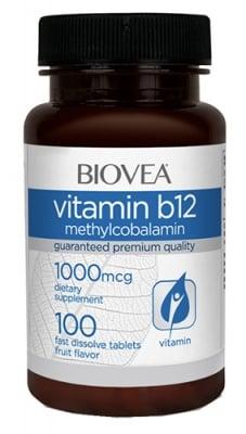 Biovea Vitamin B 12 methylcobalamin 1000 mcg 100 tablets / Биовеа Витамин Б 12 метилкобаламин 1000 мкг. 100 таблетки
