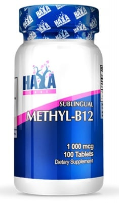 Haya Labs Methyl B 12 1000 mcg 100 sublingual tablets / Хая Лабс Метил Б 12 1000 мкг. 100 сублингвални таблетки