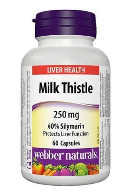 Milk thistle 250 mg 60 capsules Webber Naturals / Млечен бодил 250 мг 60 капсули Уебър Натуралс
