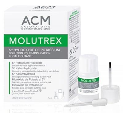 Molutrex 5% potassium hydroxyde solution for local application on skin 3 ml. / Молутрекс разтвор на 5% калиева основа против молуски - перловидни лезии по кожата флакон 3 мл.