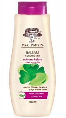 Mrs Potters`s conditioner colour protection 500 ml. /  Мисис Потърс балсам за боядисана коса с гинко билоба 500 мл.