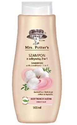 Mrs Potters`s shampoo with conditioner 2 in 1 500 ml / Мисис Потърс шампоан с балсам 2 в 1 с памучно мляко 500 мл.