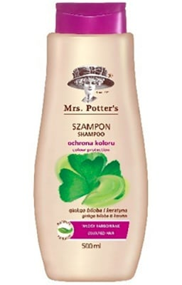 Mrs Potters`s Shampoo colour protection with ginkgo biloba 500 ml. / Мисис Потърс шампоан за боядисана коса с гинко билоба 500 мл.