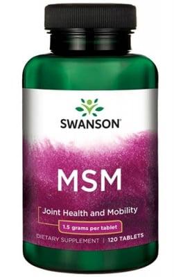 Swanson MSM 1500 mg 120 tablets / Суонсън МСМ 1500 мг. 120 таблетки