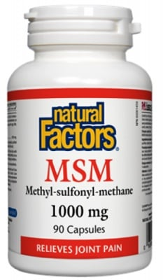 MSM 1000 mg 90 capsules Natural Factors / МСМ 1000 мг. 90 капсули Натурал Факторс