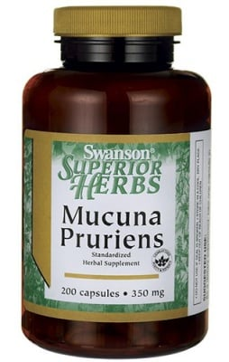 Swanson mucuna pruriens 350 mg 200 capsules / Суонсън Кадифен боб (Мукуна пруриенс) 350 мг. 200 капсули