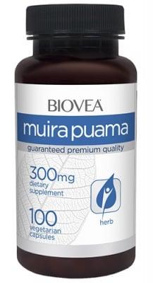 Biovea Muira puama 300 mg 100 capsules / Биовеа Муира пуама 300 мг. 100 капсули