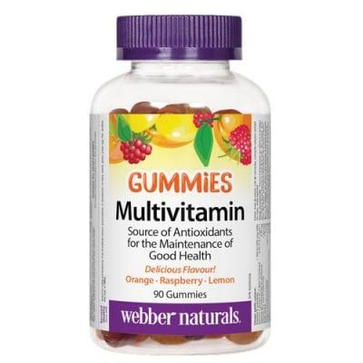 Multivitamin 90 gummies Webber Naturals / Мултивитамини Гъмис 90 желирани таблетки Уебър Натуралс
