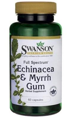 Swanson Echinacea and murrh gum 60 capsules / Суонсън Ехинацея и смирна фул 60 капсули