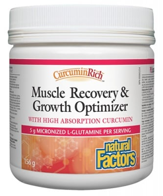 Muscle recovery & growth optimizer 156 g Natural Factors / Мускул Рикавъри & гроут оптимайзър пудра 156 гр. Натурал Факторс